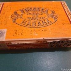 Cajas y cajitas metálicas: CAJA VACIA FONSECA CUBA PUROS HABANOS. Lote 222553340