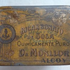 Cajas y cajitas metálicas: DOCTOR MONLLOR,ALCOY.BICARBONATO DE SOSA. Lote 222555876
