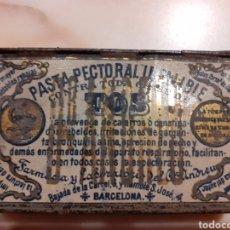 Cajas y cajitas metálicas: CAJA METÁLICA PASTA PECTORAL INFALIBLE,TOS.. Lote 222592598