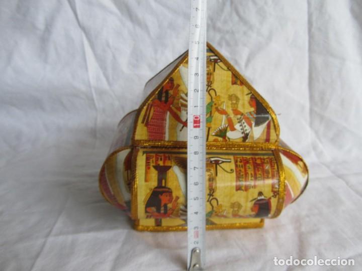 Cajas y cajitas metálicas: Curiosa caja de cartón plastificado tipo papiro, motivos del antiguo Egipto - Foto 11 - 224512302