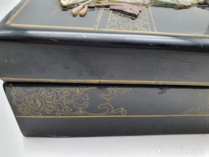 Cajas y cajitas metálicas: PRECIOSA CAJA LACADA CHINA, CON INCRUSTACIONES EN RELIEVE - Foto 10 - 224584120