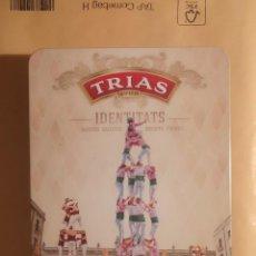 Caixas e caixinhas metálicas: CAJA METALICA - GALLETAS TRIAS 1908. Lote 225442700