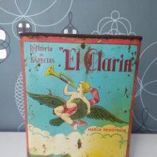 Cajas y cajitas metálicas: LATA DE PIMENTÓN EL CLARÍN 27X17X19,5. Lote 226275190