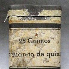 Caixas e caixinhas metálicas: CAJA DE METAL 25 GRAMOS CLORHIDRATO DE QUININA - CAJAMETALICA-669. Lote 226772970