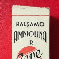 Cajas y cajitas metálicas: CAJA MEDICAMENTO DE BÁLSAMO AMNIOLINA GEVE - LABORATORIO VERGÉS & OLIVERES (TORTOSA) - SIN ABRIR. Lote 227031410