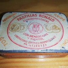 Cajas y cajitas metálicas: CAJA METÁLICA PASTILLAS BONALD. Lote 228295795