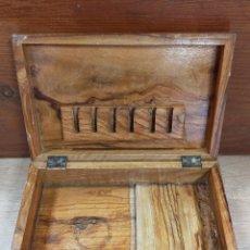 Cajas y cajitas metálicas: CAJA CIGARRERA PURERA EN MADERA. Lote 229717030
