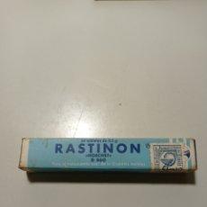Casse e cassette metalliche: ANTIGUA CAJITA DE MEDICAMENTO RASTINON DE LABORATORIOS HOECHST IBÉRICA. BOTE A MEDIAS DE PASTILLAS.. Lote 231010265