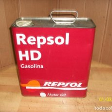 Cajas y cajitas metálicas: LATA DE ACEITE REPSOL-HD GASOLINA. Lote 232953185