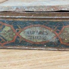 Cajas y cajitas metálicas: CAJA METALICA AZAFRANES SELECTOS. Lote 234830205