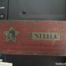 Cajas y cajitas metálicas: CAJA METÁLICA COMPRIMIDOS STELLA.. Lote 235050010