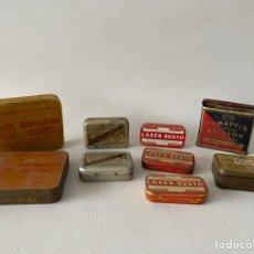 Cajas y cajitas metálicas: LOTE DE 9 CAJAS HOJALATA METAL BIOPLASTINA PAGEOL LAXEN BUSTO ARISTON EVANS.. Lote 236177995
