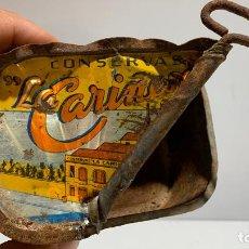 Caixas e caixinhas metálicas: ANTIGUA LATA DE CONSERVAS LA CARIÑESA, JOSE ABELLA FOIMIL, CARIÑO - LA CORUÑA. Lote 236266225