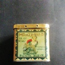 Caixas e caixinhas metálicas: CAJA DE LATA MANZANILLA PUNTA BLAVA. DE LOS MONTES QUEROL TARRAGONA. Lote 236344770