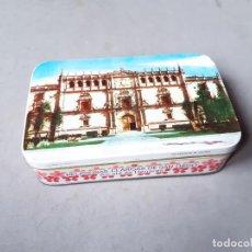 Cajas y cajitas metálicas: CAJA DE LATA DE ALMENDRA GARAPIÑADA - RELIGIOSAS CLARISAS DE SAN DIEGO - G. DE ANDREIS -. Lote 236766180