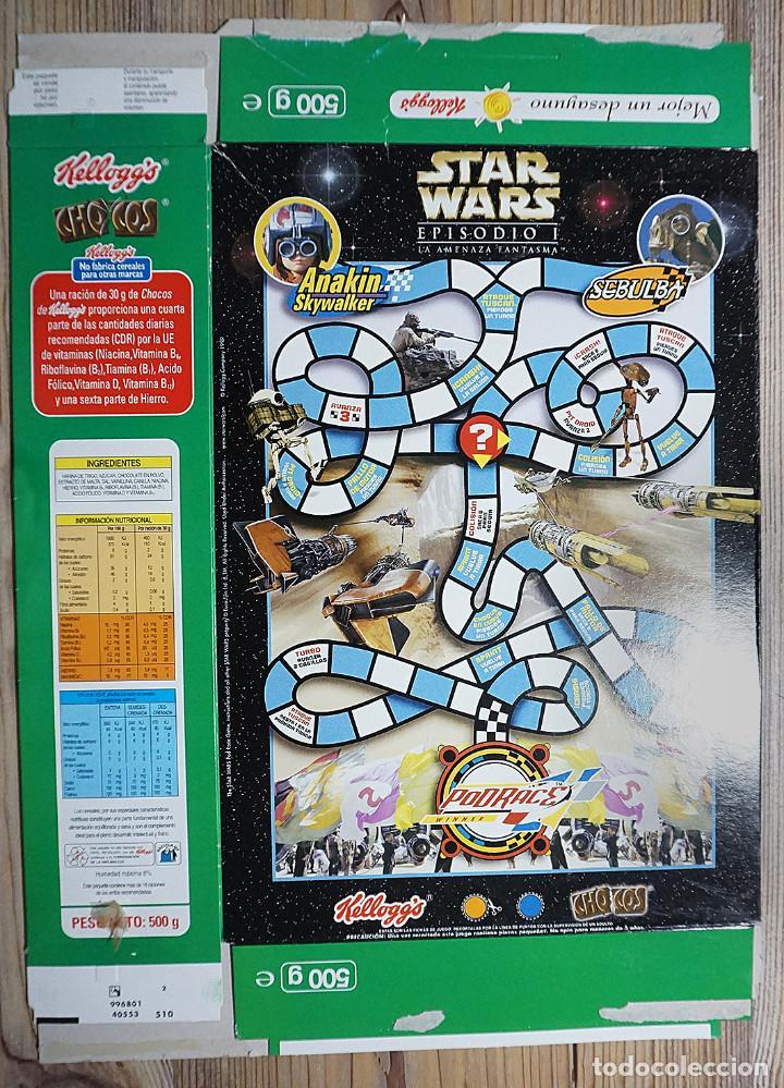 Cajas y cajitas metálicas: ENVASE CAJA CARTÓN CHOCOS KELLOGGS STAR WARS GUERRA DE LAS GALAXIAS 2000 KELLOGG KELLOGGS - Foto 2 - 237018450