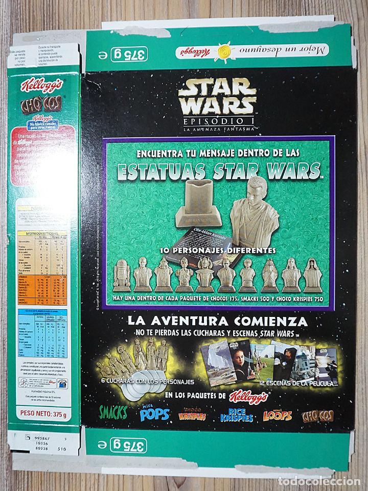 Cajas y cajitas metálicas: ENVASE CAJA CARTÓN CHOCOS KELLOGGS STAR WARS GUERRA DE LAS GALAXIAS 2000 KELLOGG KELLOGGS - Foto 2 - 237019115