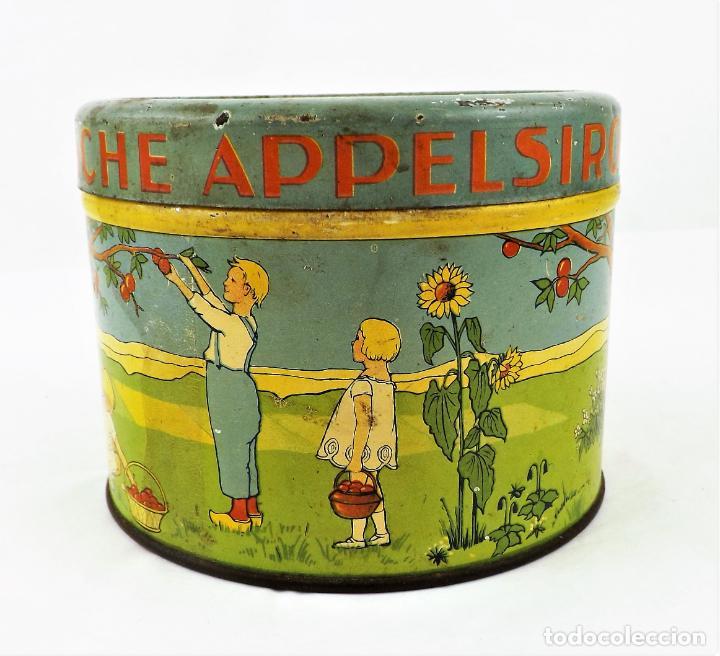 Cajas y cajitas metálicas: Lata de conservas T.E.O. (Alemania) años 30/40 Sello KD - Foto 4 - 237140920