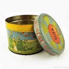 Cajas y cajitas metálicas: LATA DE CONSERVAS T.E.O. (ALEMANIA) AÑOS 30/40 SELLO KD. Lote 237140920