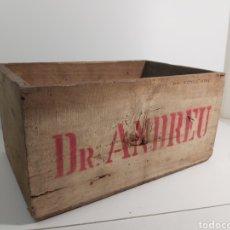 Cajas y cajitas metálicas: CAJA DE MADERA DR. ANDREU. Lote 237832900