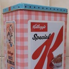 Cajas y cajitas metálicas: BOTE METALICO PARA CEREALES KELLOGG'S PROMOCIÓN EXCLUSIVA RETRO. Lote 238706165