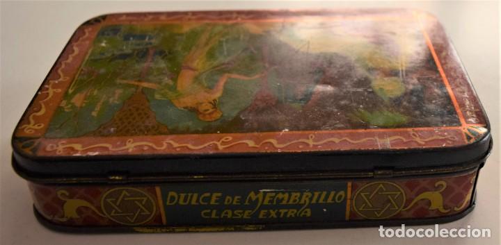 Cajas y cajitas metálicas: PRECIOSA CAJA METÁLICA DULCE DE MEMBRILLO CLASE EXTRA SIN MARCA - 17,5 X 11 X 3,8 CM - Foto 7 - 241157125