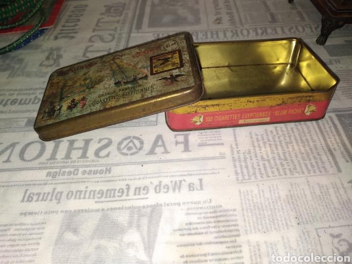 Cajas y cajitas metálicas: ANTIGUA CAJA DE METAL CIGARROS EGIPTO DIMITRINO & CO LE CAIRE. 17x10 cm - Foto 5 - 242108780