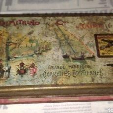 Cajas y cajitas metálicas: ANTIGUA CAJA DE METAL CIGARROS EGIPTO DIMITRINO & CO LE CAIRE. 17X10 CM. Lote 242108780