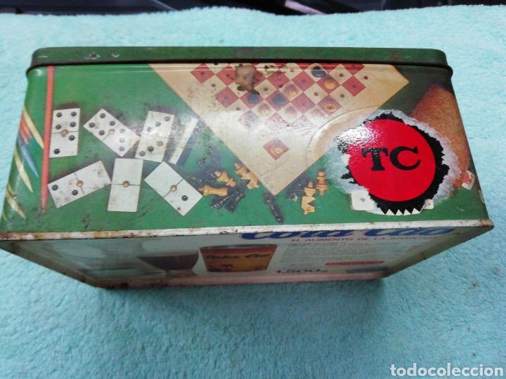 Cajas y cajitas metálicas: Caja de chapa cola cao, temática juegos - Foto 2 - 242469140
