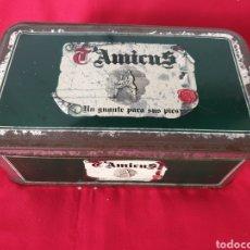 Cajas y cajitas metálicas: ANTIGUA CAJA METÁLICA ZAPATOS T'AMICUS. Lote 242816315