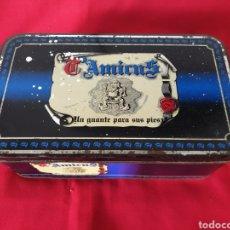 Cajas y cajitas metálicas: ANTIGUA CAJA METÁLICA ZAPATOS T'AMICUS. Lote 242816440