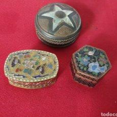 Cajas y cajitas metálicas: ANTIGUAS CAJAS METALICAS. Lote 243194460