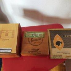 Cajas y cajitas metálicas: 3 CAJAS PUROS. Lote 243372560