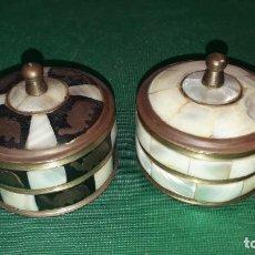 Boîtes et petites boîtes métalliques: DOS CAJAS DE NACAR. Lote 244418490
