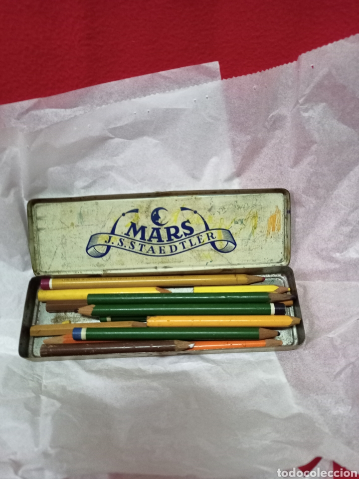 Cajas y cajitas metálicas: Antigua lata con lápices Mara J.S.Staedtler - Foto 2 - 244482710