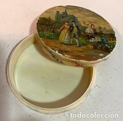 Cajas y cajitas metálicas: Caja redonda con pinturas miniatura. - Foto 2 - 244491590