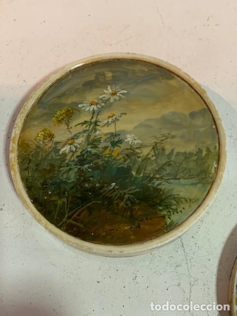 Cajas y cajitas metálicas: Caja redonda con pinturas miniatura. - Foto 5 - 244491590