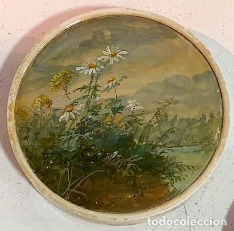 Cajas y cajitas metálicas: Caja redonda con pinturas miniatura. - Foto 6 - 244491590