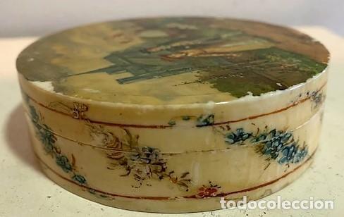 Cajas y cajitas metálicas: Caja redonda con pinturas miniatura. - Foto 10 - 244491590