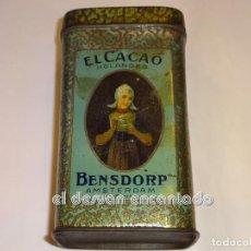 Boîtes et petites boîtes métalliques: CACO BENSDORP. CAJA LATA LITOGRAFIADA 14 X 8 X 6 CTMS. Lote 245364665