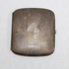 Cajas y cajitas metálicas: PITILLERA EN METAL PLATEADO. Lote 245571430