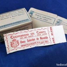 Cajas y cajitas metálicas: 2 CAJAS ANTIGUAS , AZAFRANES DE NOVELDA Y 1 PRECINTO DE GARANTIA. VER FOTOS .SIN MONTAR. Lote 248799585