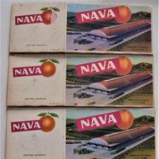 Cajas y cajitas metálicas: LOTE 4 CAJAS DE CARTÓN PARA NARANJAS Y OTRAS FRUTAS MARCA NAVA - JÁTIVA (VALENCIA). Lote 249356000