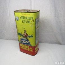 Cajas y cajitas metálicas: CAJA ACEITE OLIVA MUSA 5 LITROS. Lote 249463225
