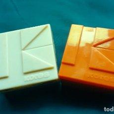 Cajas y cajitas metálicas: 2LOTE DE 2 CAJAS DE CINTAS DE MAQUINA KORES DE PLASTICO. Lote 251480045