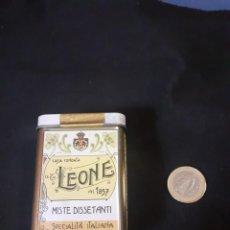 Cajas y cajitas metálicas: CAJITA METALICA DE CARAMELOS LEONE DE TURIN. Lote 251813200