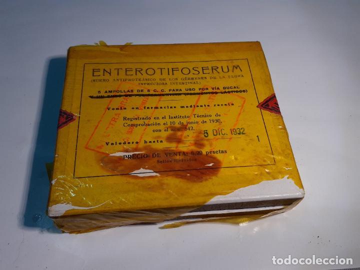 Cajas y cajitas metálicas: CAJA DE FARMACIA ENTEROTIFOSERUM LAB. MAGNUM BADAJOZ // SIN DESPRECINTAR AÑOS 30 - Foto 2 - 251917820