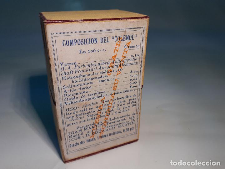 Cajas y cajitas metálicas: CAJA DE FARMACIA COLENOL LAB. JUAN MARTIN CON YATREN // SIN DESPRECINTAR AÑOS 30 - Foto 3 - 252401750