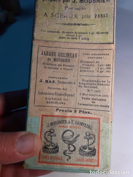 Cajas y cajitas metálicas: CAJA DE FARMACIA FRASCO ELIXIR SIROP GELIENAU DR. MONSNIER // SIN USO AÑOS 30 - Foto 2 - 252402015