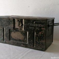 Casse e cassette metalliche: CAJA MILITAR METÁLICA VINTAGE. Lote 253039445
